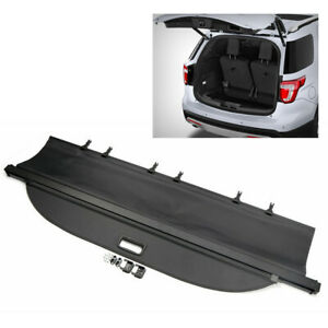 Rear Trunk Cargo Cover Security Shield Shade Black Fit Ford Explorer 2011 2017