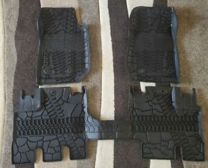2014 2018 Jeep Wrangler Original Factory Oem All Weather Floor Liner Mat Set