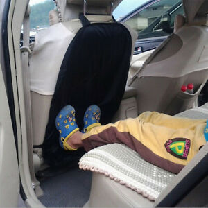 Car Auto Care Seat Back Protector Cleaning Cover For Children Kick Mat Mud Black