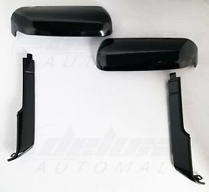 Black Top Side Replacement Mirror Covers For 20 21 Chevy Silverado Gmc Sierra Hd