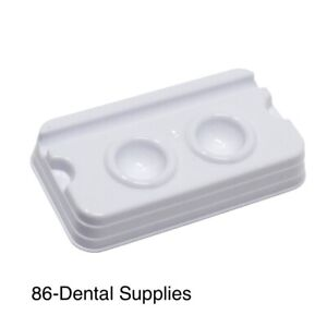 500pcs Dental Disposable Mixing Well 2 Wells Fda Registed High Quality