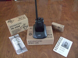 Kenwood Tk 2360 Vhf Handheld Two Way Radio With All Accessories Always New