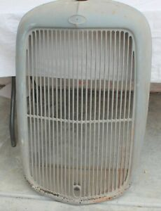 1932 Original Ford Truck Steel Grille And Insert With Crank Hole
