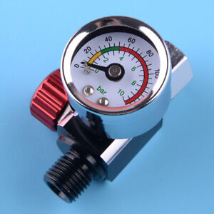 1x Air Regulator Pressure Gauge Compressor Fit For Devilbiss Iwata 0 140 Psi New