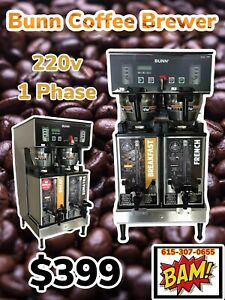 Bunn Dual Sh Dbc Commercial Coffee Brewer Model Server 33500 Maker With Urns