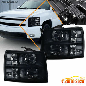 Fit 2007 14 Chevy Silverado 1500 2500hd Clear Corner Headlight Replacement Lamp