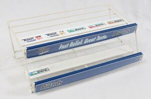 Rolaids 15 Counter Top Store Display White Wire Rack Gum Candy Snack