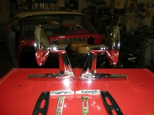 1957 1958 1959 Plymouth Dodge Chrysler And Classic Car Vintage Chrome Mirrors