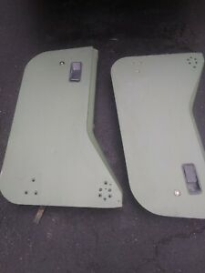 1987 1995 Half Doors Jeep Wrangler Yj Lower 1 2 Hard Door Pair Sage Green Tan