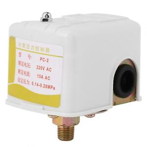 Double pole Pressure Switch Control 220vac Pressure Controller Well Water Pump