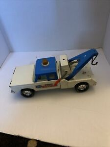 Vintage Nylint Wrecker Pressed Steel Tow Truck Extended Cab Blue Roof Parts
