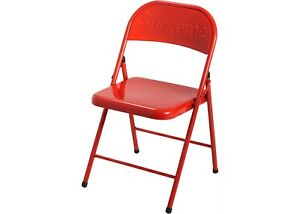 Supreme Metal Folding Chair Red 2020 Fw20 100 Authentic New Fast Shipping
