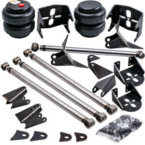 Weld On Triangulated 4 Link Suspension Kit Bars 2500 Bags Side Frame Mounts Set