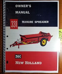 New Holland 331 Manure Spreader Owner s Operator s Manual O331 7 2m 3 63w 3 63