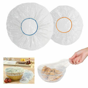 20 Pc Clear Elastic Wrap Bowl Covers Food Storage Caps Dish Plate Stretch Lid