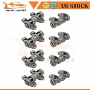 Stainless Steel Shaft Mount Roller Rocker Arm Set Fits Chevy Sbc 350 1 6 Ratio