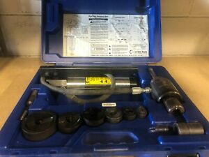 Current Tools Piece Maker Hydraulic Knockout Set 1 2 To 2 152pm