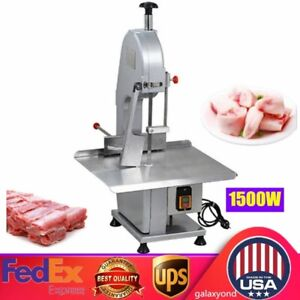 Commercial Electric Bone Saw Sawing Machine Froze Meat Fish Cutter Machine 1500w