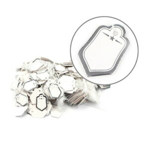 Brand Tag Retail Label Tie String Jewelry Watch Display Silver Pack Of 1000 Us