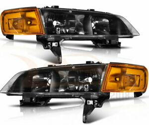 For 1994 1997 Honda Accord Sedan Headlamps Replacement Halo Headlights Assembly
