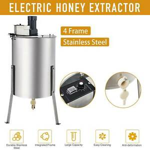 4 8 Frame Electric Honey Extractor Ss Beekeeping Equipment Spinner Drum Stand