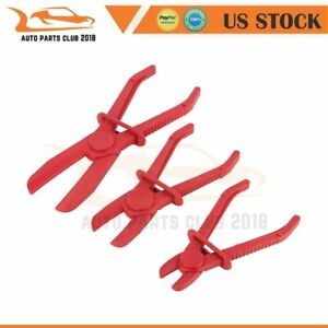 3pc Flexible Hose Clamp Kit Fuel Water Brake Line Pipe Pinch Off Pliers Set