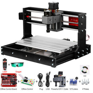3018 Pro Diy Cnc Router 2in1 Engraving Machine Engraver 500mw Er11 Collet S5r4