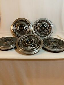 Five 1966 1967 1968 1969 Chrysler Imperial 15 Inch Wheel Cover Hubcap Oem