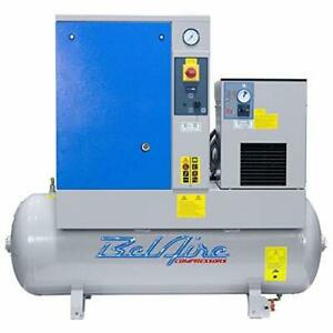 Belaire Br75501d 7 5hp 60gallon 230v 1ph Fixed Speed Rotary Air Compressor Dryer