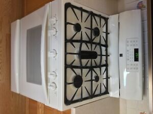 Kenmore Gas Range Stove Bisque Excellent Used Condition
