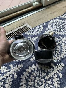 Piaa Fog Lights Vintage Black Oval Pf9 68 W Attached Bracket Rare See Pictures