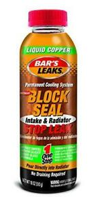 Bar s Leaks 1109 Block Seal Liquid Copper Intake And Radiator Stop Leak 18 Oz