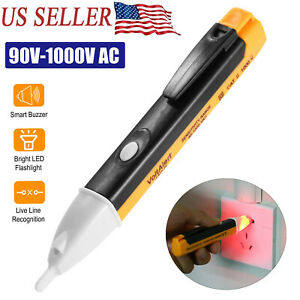 Electric Voltage Tester Pen Non contact Ac Volt Alert Detector Sensor 90 1000v