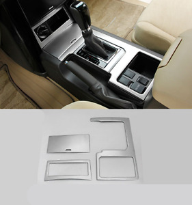 Stainless Interior Gear Shift Frame Cover Trim For Toyota Prado Fj150 2014 2016