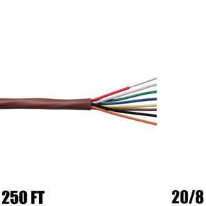250ft 20 8 Heating Air Conditioning Hvac Thermostat Wire Cable Solid Cmr Riser