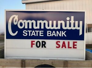 Lighted Double Sided Box Sign Outdoor 10ft X 6ft With Letters And Numbers