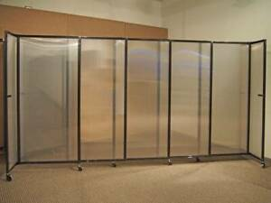 Rolling Movable Room Divider 360 Flexible Folding Wall Portable Partition New