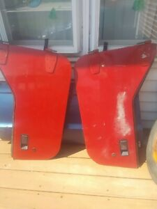 1987 1995 Half Doors Jeep Wrangler Yj Pair Red Dark Gray Black Panel