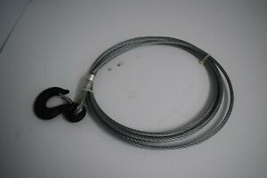 Little Mule Wire Rope And Hook Assembly 9 32 Diameter 7x19 Galvanized 15