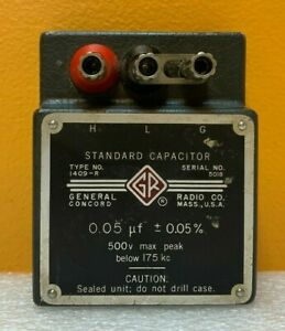 General Radio 1409 r 0 05 Uf 500 V Max Peak Standard Capacitor Tested
