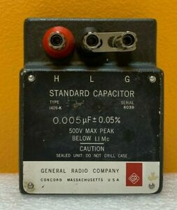 General Radio 1409 k 0 005 Uf 500 V Max Peak Standard Capacitor Tested