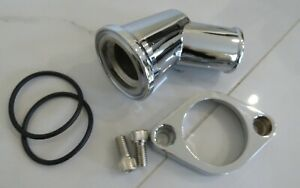 Small Block Chevy Aluminum Polished Thermostat Housing Adjustable