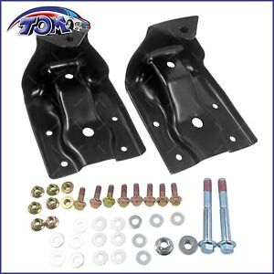 New Pair Rear Leaf Spring Hanger Shackle Kit For Chevy Silverado Gmc Sierra 2pcs Fits More Than One Vehicle