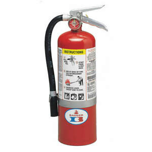 Badger 5mb 6h Fire Extinguisher 5 Lb Abc Dry Chemical 22435