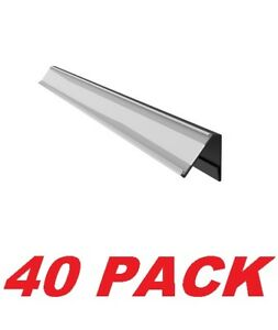 40 Data trax Dual Price Tag Channel For Slotted Shelves Retail Store Shelving
