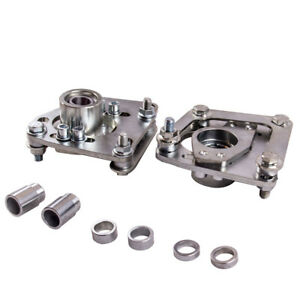 Adj Camber Caster Plates Polished Coilover Alignment For Ford Mustang 94 04