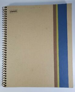 Staples Eco friendly 1 Subject Notebook 100 Sheets 8 5 x11in