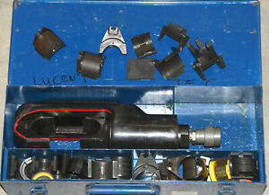 Thomas And Betts Hydraulic Crimper Compression Tool Ep 610h Huskie Burndy W dies