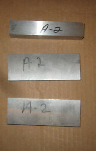 A 2 Tool Steel Bar Stock 3 Pieces 7 16 1 2 3 4 Thick 5 Inches Long