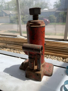 vintage 3 Ton Bottle Jack Original Red Paint Made In Usa